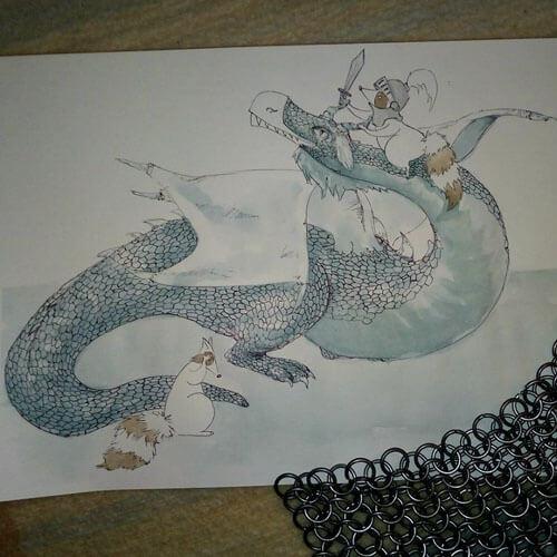рисунки с двумя енотами