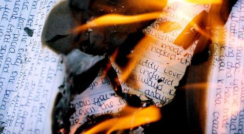 пожар из-за любовных писем