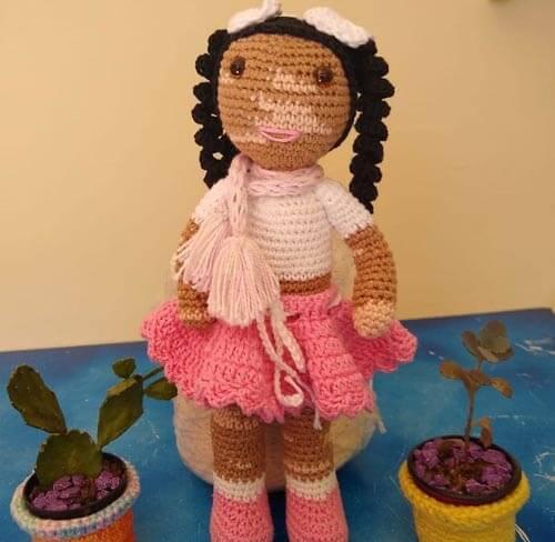 вязаные куклы с витилиго