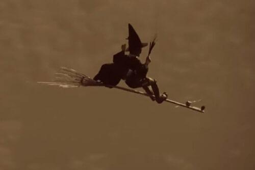 ведьма отправилась в полёт