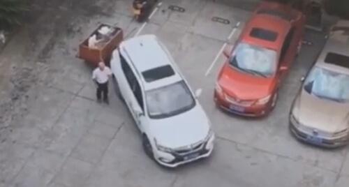 ролик с паркующимся водителем