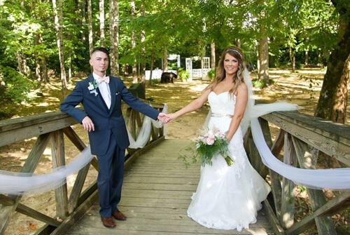 медведь на свадебной фотосессии