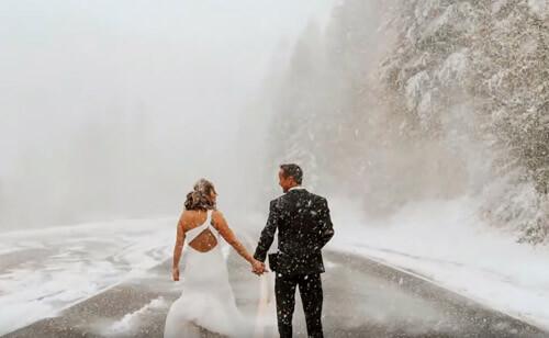 свадьба стала зимней сказкой