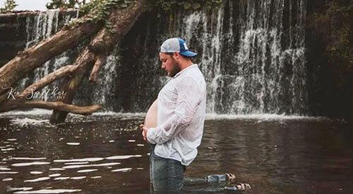 беременная фотосессия мужчины