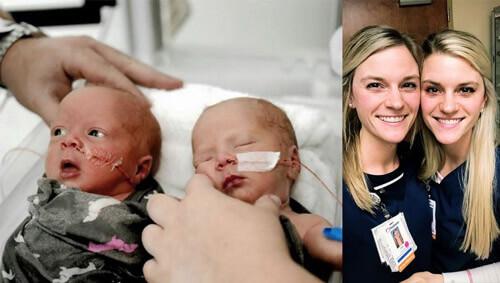 медсёстры-близнецы приняли роды