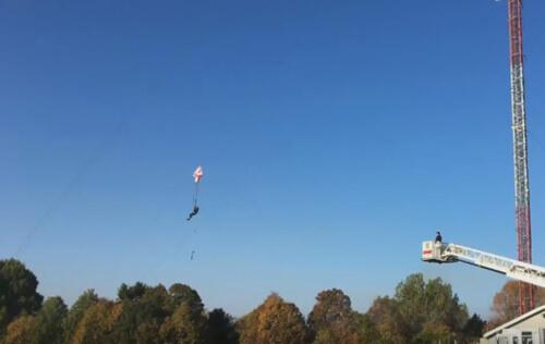 спасение смельчака с парашютом