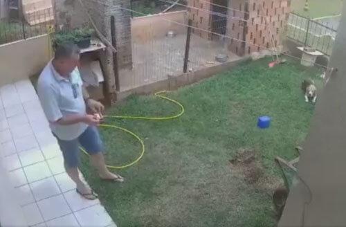 мужчина устроил взрыв в саду