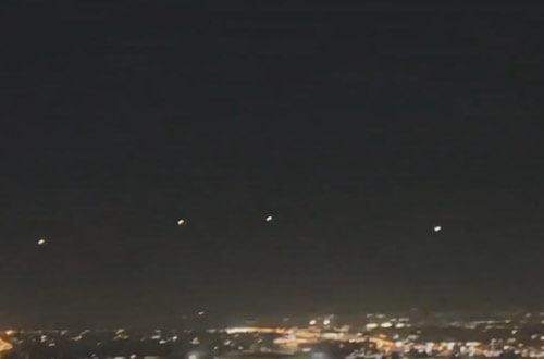 четыре ярких объекта в небе