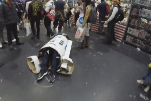 робот не смог подняться