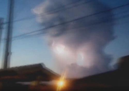 облачная голова в небе