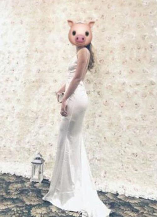 неправильное платье гостьи