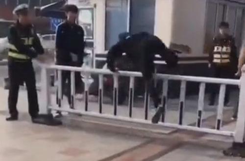 пешеходов заставили прыгать