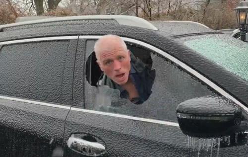 шутка с замёрзшим окном