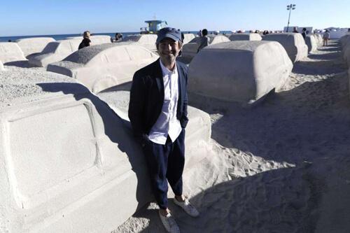 автомобильная пробка из песка