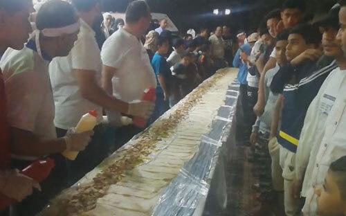 самая длинная в мире шаурма