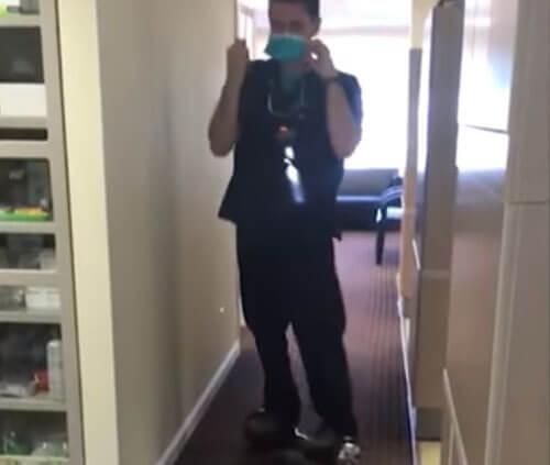 стоматолог любит гироскутер