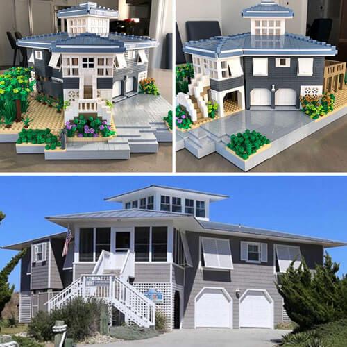 копии домов из конструктора
