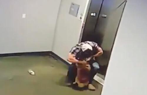 поводок в дверях лифта