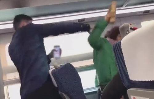 ссора в поезде из-за шторки