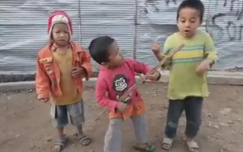 выступление маленьких музыкантов