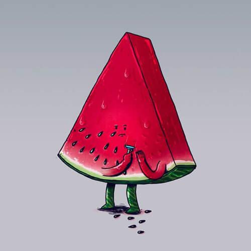 ожившие фрукты и овощи