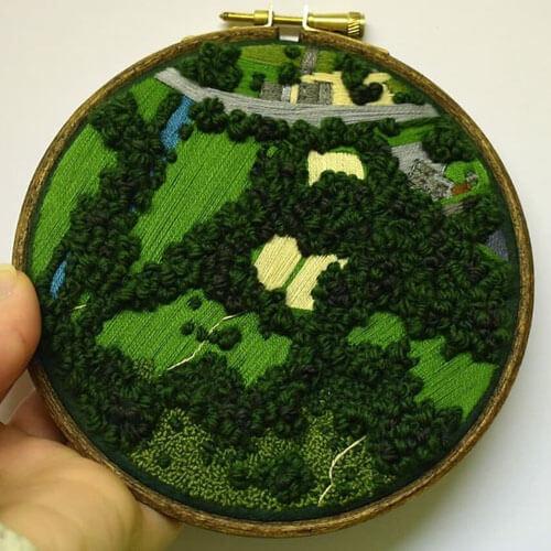 красивый пейзажные вышивки