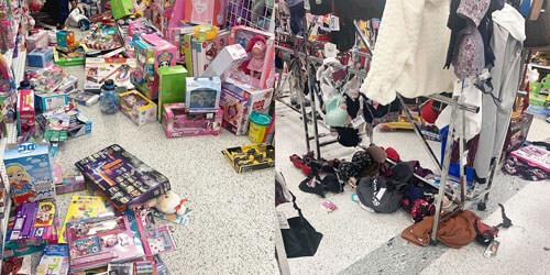 праздничный бардак в магазинах