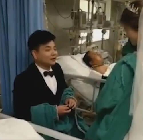 свадьбу устроили в больнице