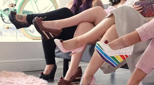 туфли похожи на торты и пирожные