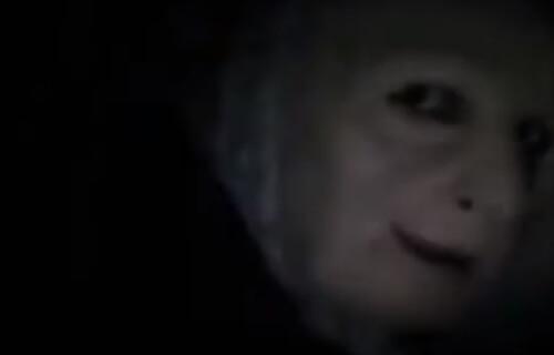 жуткая ведьма в доме