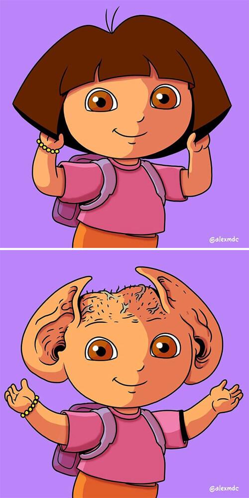 гротескные герои мультфильмов