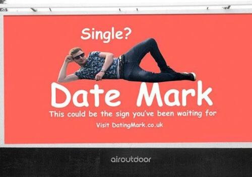 рекламный плакат для знакомств