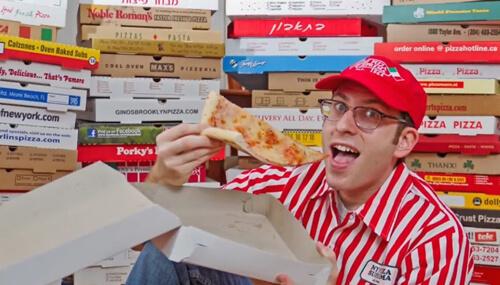 коллекция коробок из-под пиццы