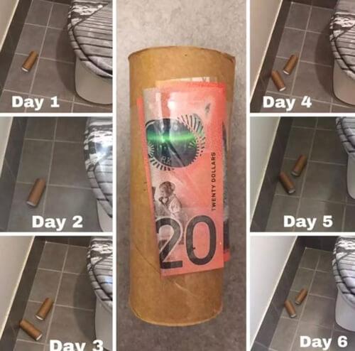 деньги прячут под мусором