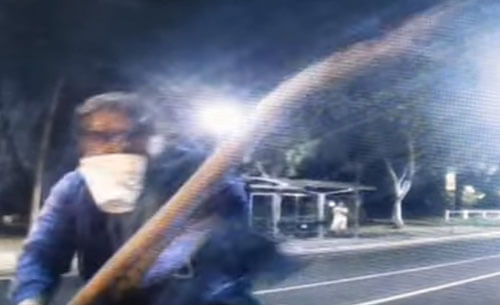 стекло машины разбили палкой