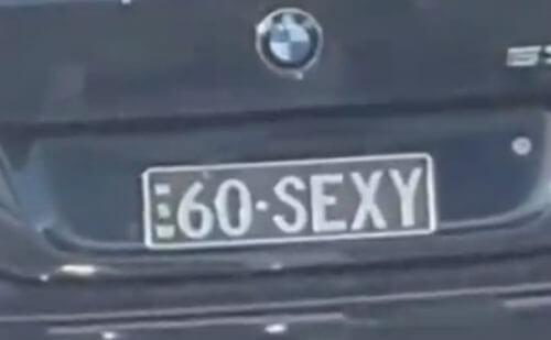 машина с сексуальным номером