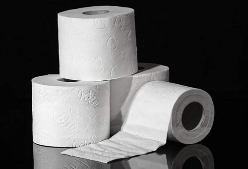 уничтоженная туалетная бумага