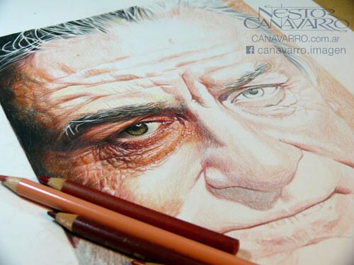 портреты цветными карандашами