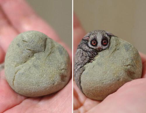 камни превращаются в зверушек