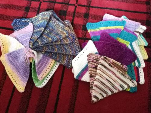 большое вязаное полотно