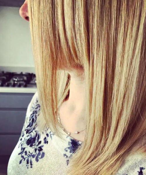 выстриженный клок волос