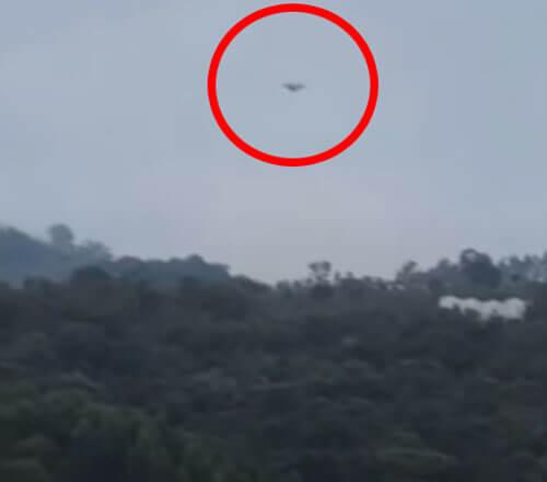 летательный аппарат приземлился