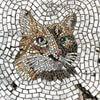 мозаики в выбоинах на дороге