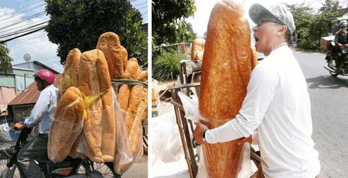 огромные буханки хлеба
