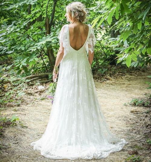 изменённое свадебное платье