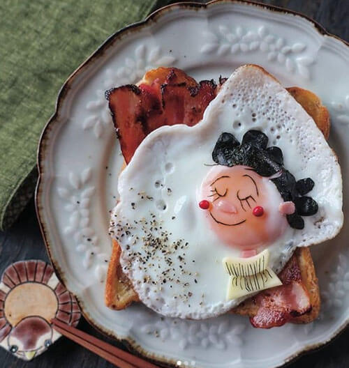 красивая яичница для детей