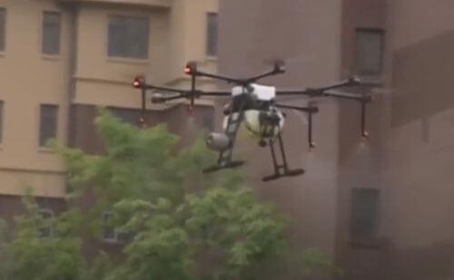 дроны помогают дезинфицировать