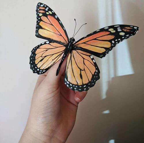 бабочки и жуки из бумаги