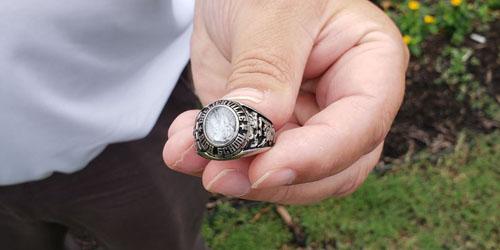 кольцо нашлось в мусоре