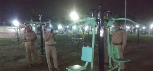 полицейские проверили тренажёр